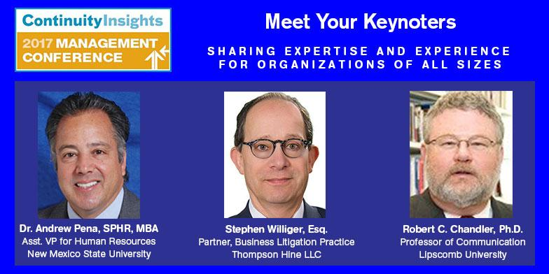2017 continuity insights management conference keynote speakers